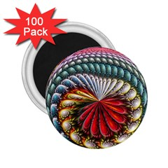 Circles Lines Background  2 25  Magnets (100 Pack)