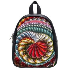 Circles Lines Background  School Bag (small)