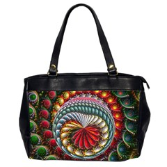 Circles Lines Background  Office Handbags (2 Sides)