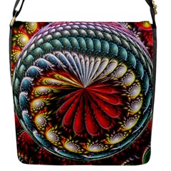 Circles Lines Background  Flap Messenger Bag (s)