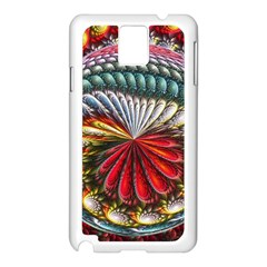 Circles Lines Background  Samsung Galaxy Note 3 N9005 Case (white)