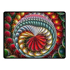 Circles Lines Background  Double Sided Fleece Blanket (small)