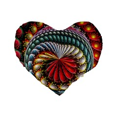 Circles Lines Background  Standard 16  Premium Flano Heart Shape Cushions