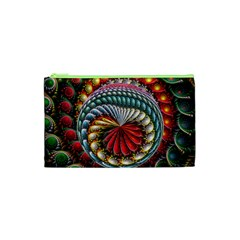 Circles Lines Background  Cosmetic Bag (xs)