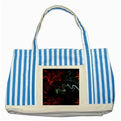 Lines Curves Background  Striped Blue Tote Bag