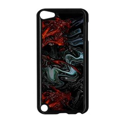 Lines Curves Background  Apple Ipod Touch 5 Case (black)
