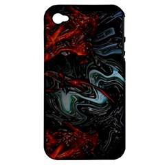 Lines Curves Background  Apple Iphone 4/4s Hardshell Case (pc+silicone)