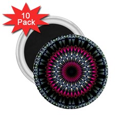 Circles Background Lines  2 25  Magnets (10 Pack)
