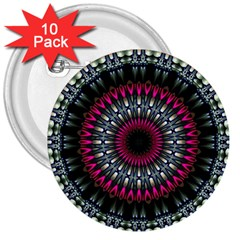 Circles Background Lines  3  Buttons (10 Pack)