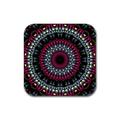 Circles Background Lines  Rubber Coaster (square)