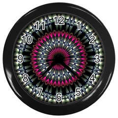 Circles Background Lines  Wall Clocks (black)