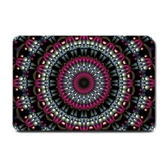 Circles Background Lines  Small Doormat