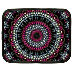 Circles Background Lines  Netbook Case (large)