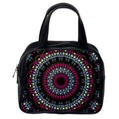 Circles Background Lines  Classic Handbags (one Side)