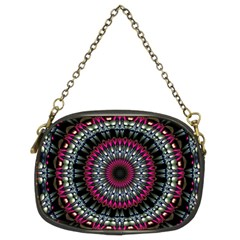 Circles Background Lines  Chain Purses (two Sides)