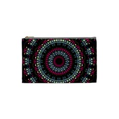 Circles Background Lines  Cosmetic Bag (small)