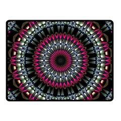 Circles Background Lines  Fleece Blanket (small)