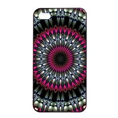 Circles Background Lines  Apple Iphone 4/4s Seamless Case (black)