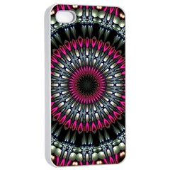 Circles Background Lines  Apple Iphone 4/4s Seamless Case (white)