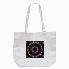 Circles Background Lines  Tote Bag (white)
