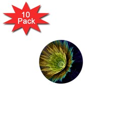 Flower Line Smoke  1  Mini Buttons (10 Pack)