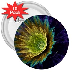 Flower Line Smoke  3  Buttons (10 Pack)