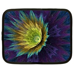 Flower Line Smoke  Netbook Case (large)