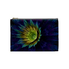 Flower Line Smoke  Cosmetic Bag (medium)