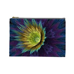 Flower Line Smoke  Cosmetic Bag (large)