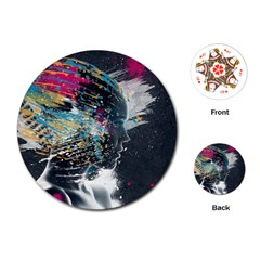 Face Paint Explosion 3840x2400 Playing Cards (round)