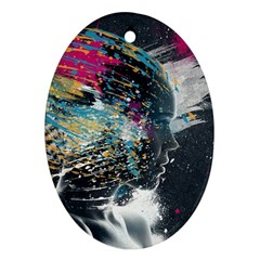 Face Paint Explosion 3840x2400 Oval Ornament (two Sides)