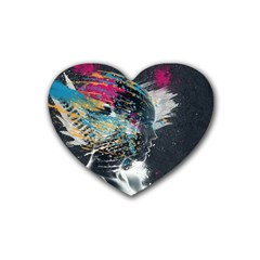 Face Paint Explosion 3840x2400 Rubber Coaster (heart)