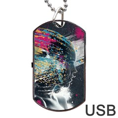 Face Paint Explosion 3840x2400 Dog Tag Usb Flash (one Side)
