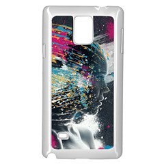 Face Paint Explosion 3840x2400 Samsung Galaxy Note 4 Case (white)
