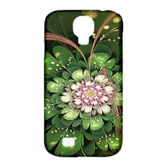 Fractal Flower Petals Green  Samsung Galaxy S4 Classic Hardshell Case (pc+silicone)