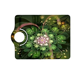 Fractal Flower Petals Green  Kindle Fire Hd (2013) Flip 360 Case