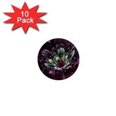 Flower Burst Background  1  Mini Magnet (10 Pack)