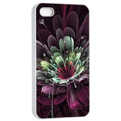 Flower Burst Background  Apple Iphone 4/4s Seamless Case (white)