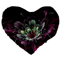 Flower Burst Background  Large 19  Premium Heart Shape Cushions