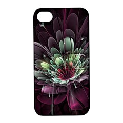 Flower Burst Background  Apple Iphone 4/4s Hardshell Case With Stand