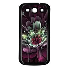 Flower Burst Background  Samsung Galaxy S3 Back Case (black)