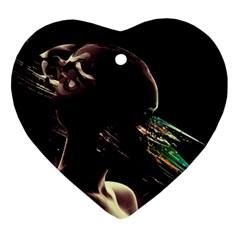 Face Shadow Profile Ornament (heart)