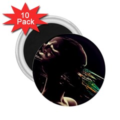 Face Shadow Profile 2 25  Magnets (10 Pack)