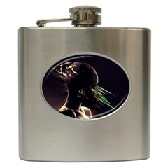 Face Shadow Profile Hip Flask (6 Oz)