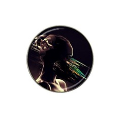 Face Shadow Profile Hat Clip Ball Marker
