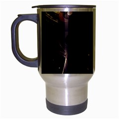 Face Shadow Profile Travel Mug (silver Gray)