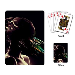 Face Shadow Profile Playing Card