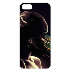 Face Shadow Profile Apple Iphone 5 Seamless Case (white)