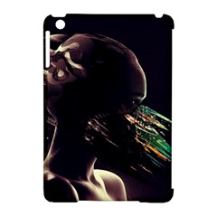 Face Shadow Profile Apple Ipad Mini Hardshell Case (compatible With Smart Cover)