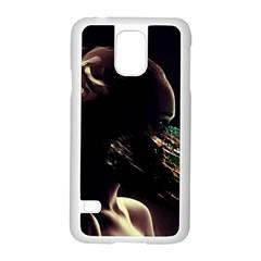 Face Shadow Profile Samsung Galaxy S5 Case (white)